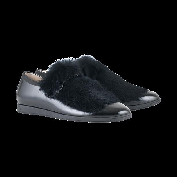 Hogl sko i sort lak  læder