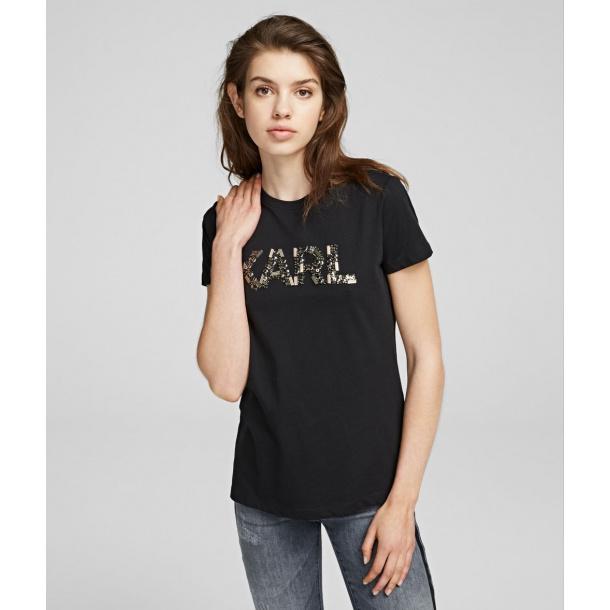 Karl Lagerfeld T -shirt med logo