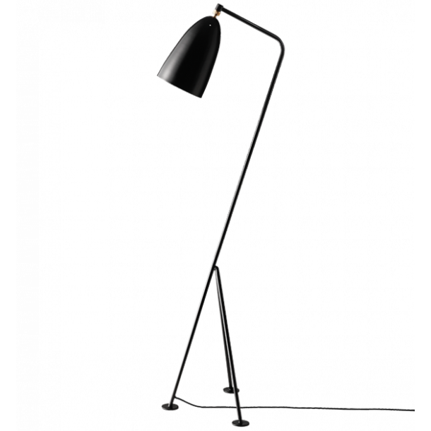 GUBI Grossman Gräshoppa floor lamp Jetblack