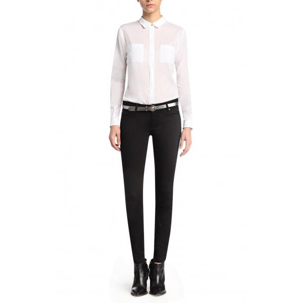 Boss Oarnge jeans sort slim - fit (online rabat)
