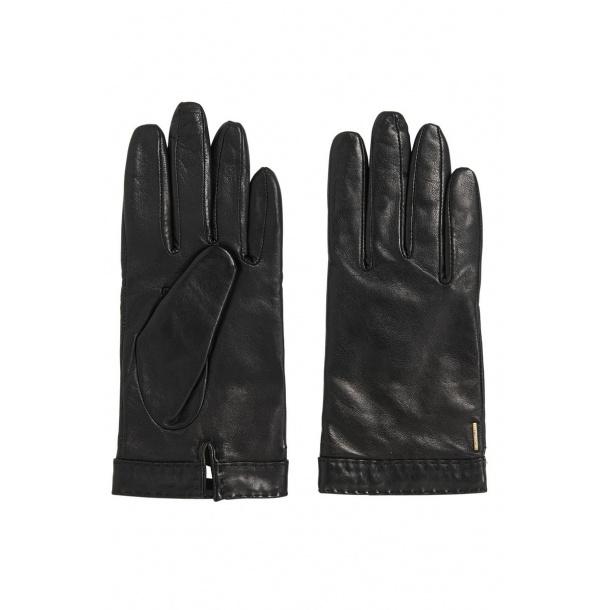 Hugo Boss leather gloves black