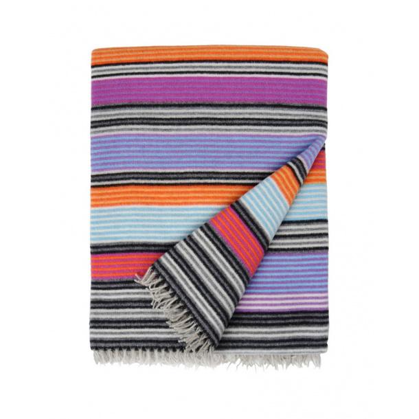 Missoni erode plaid wool, purple/orange
