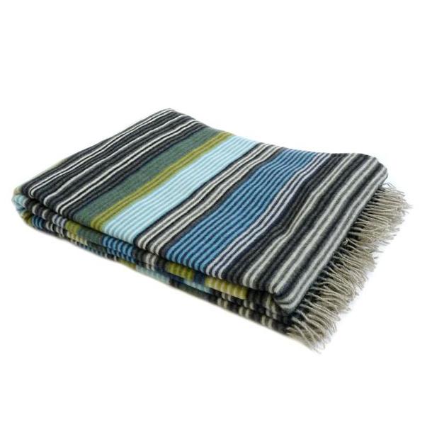 Missoni erode plaid wool, blue/green