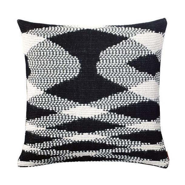 Missoni sigmund pillow wool, Black/white