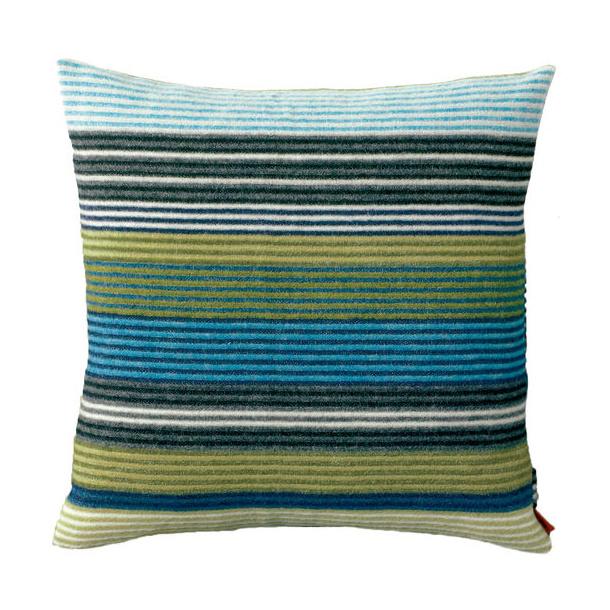 Missoni erode pillow wool, Blue/green