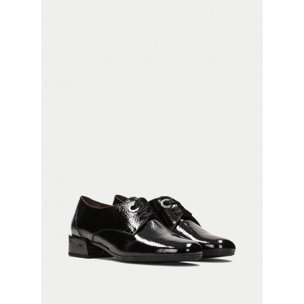 HS læder sko i sort