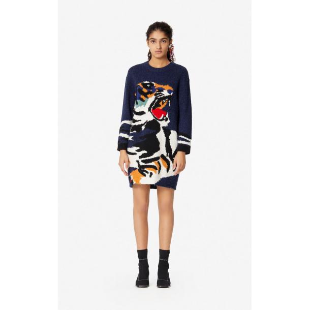 Kenzo Tiger Head sweater dress