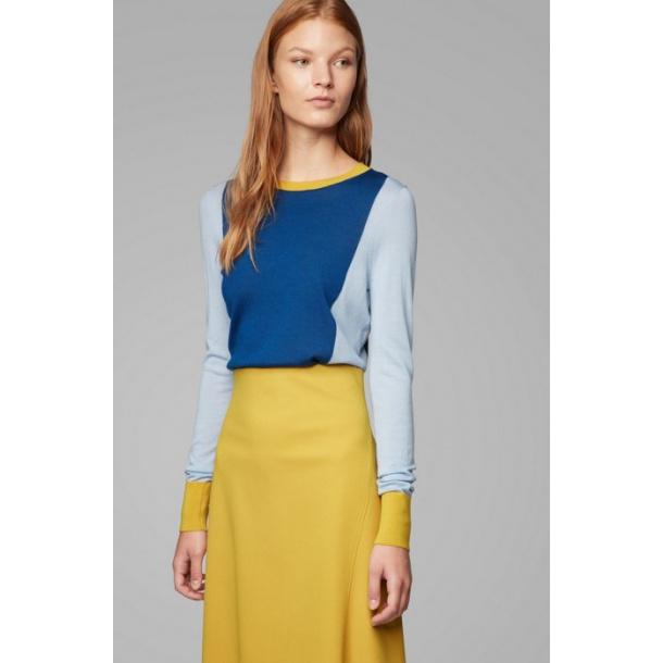 Hugo Boss Fiolena slim-fit sweater in virgin wool