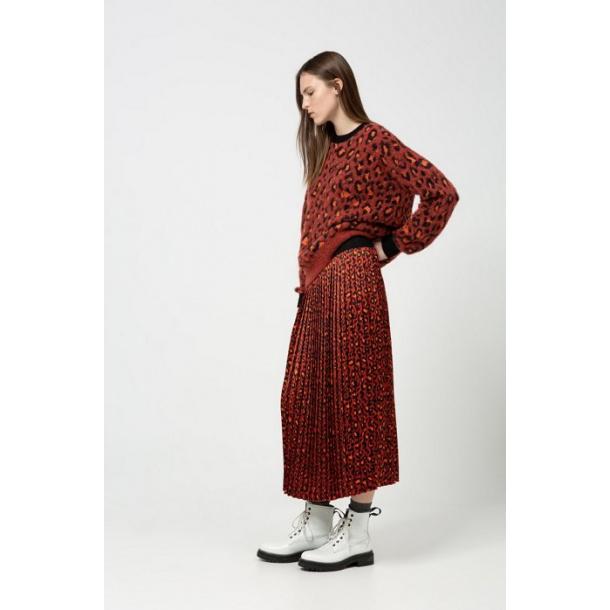 Hugo Boss-Regular-fit skirt in leopard print